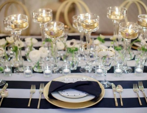 Tabletop Inspiration: Black, White and Gold